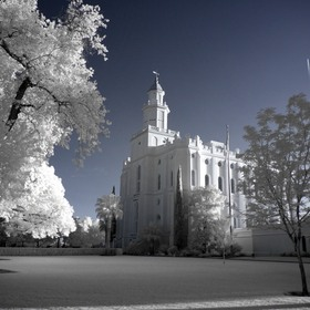 St. George Temple in Infrared